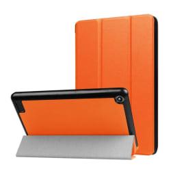 Amazon Fire 7 (2017) Vikbart läder fodral - Orange
