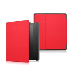Amazon Kindle Oasis (2017) Enfärgat fodral i läder - Röd