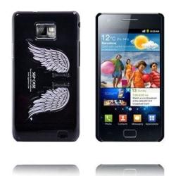 Angel Wings - Vikbart Stativ (Svart) Samsung Galaxy S2 Skal