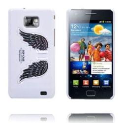 Angel Wings - Vikbart Stativ (Vit) Samsung Galaxy S2 Skal