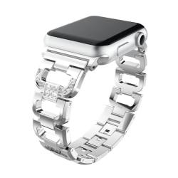 Apple Watch 1 - 2 - 3 i 38mm urlänk rostfri stål strasstenar