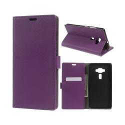 ASUS Zenfone 3 Deluxe (ZS570KL) litchi plånboksfodral - Lila