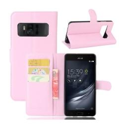 Asus ZenFone AR (ZS571KL) Fodral med plånbok - Ljus rosa