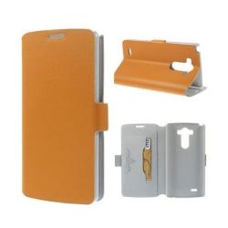 Bellman (Orange) LG G3 Äkta Läder Flip-Fodral
