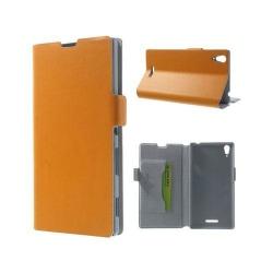 Bellman (Orange) Sony Xperia T3 Äkta Läder Flip Fodral