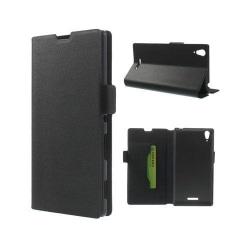 Bellman (Svart) Sony Xperia T3 Äkta Läder Flip Fodral