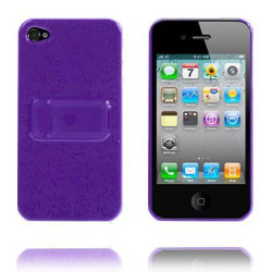 Blomma Kickstand (Lila) iPhone 4 Skal