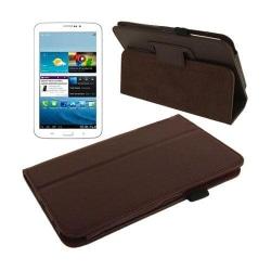 Boston (Mörkbrun) Samsung Galaxy Tab 3 7.0 Läderfodral