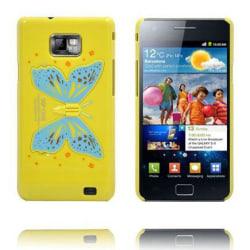 Butterfly Wings - Vikbart Stativ (Gul) Samsung Galaxy S2 Ska