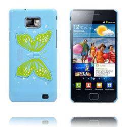 Butterfly Wings - Vikbart Stativ (Ljusblå) Samsung Galaxy S2