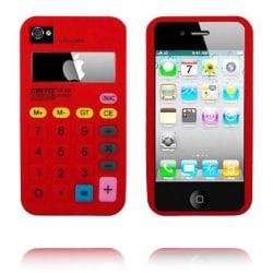 Calculator Pink Plus (Röd) iPhone 4S Silikonskal