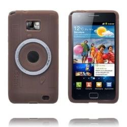 Camera Skal (Brun) Samsung Galaxy S2 Silikonskal