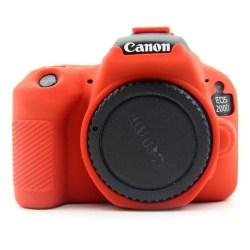 Canon EOS 200D kameraskydd silikonmaterial stötdämpande - Rö