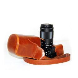 Canon EOS M3 Läcker läder fodrals väska - Ljus brun
