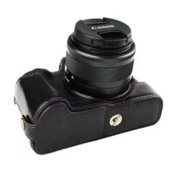 Canon EOS M50 kameraskydd nederdel konstläder flanell - Svar