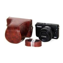 Canon EOSMEOSM2EOSM10 Läckert skydd i läder - Brun