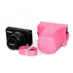 Canon EOSMEOSM2EOSM10 Läckert skydd i läder - Rosa