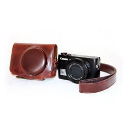 Canon PowerShot G7X MarkII Unikt läder kamera skydd - Brun