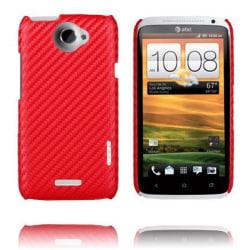 Carbonite Ver. II (Röd) HTC One X Skal
