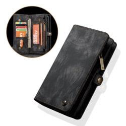 CASEME Huawei P20 mobilfodral PU läder plast plånbok - Svart