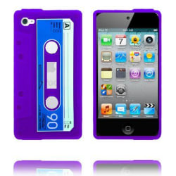 Cassette Skal (Lila) iPod Touch 4 Silikonskal