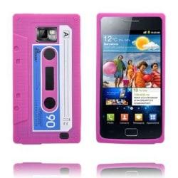 Cassette Tape (Rosa) Samsung Galaxy S2 Skal