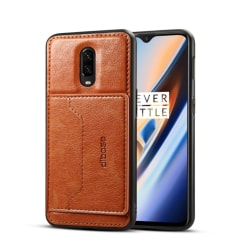 Crazy Horse OnePlus 6T leather hybrid case - Brown