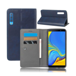Crazy Horse Samsung Galaxy A7 (2018) plånboksfodral i läder