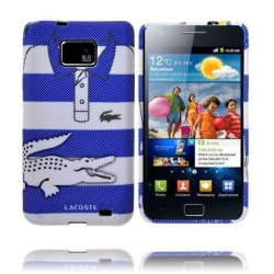 Croco Shirt (Rand Blå/Vit) Samsung Galaxy S2 Skal