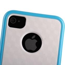 Cubus Vit - Dual Compound (Ljusblå) iPhone 4/4S Kombinations