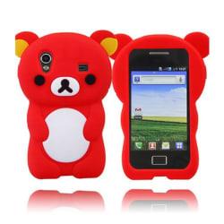 Cute Bear (Röd) Samsung Galaxy Ace Skal