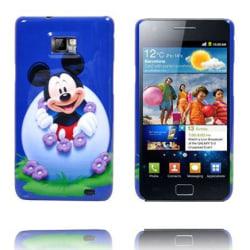 Cute Cartoon (Mickey - Blå Himmel) Samsung Galaxy S2 Skal