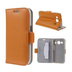 DOORMOON Äkta Läderfodral till Samsung Galaxy Ace 4 - Orange