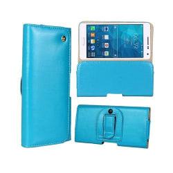 Gaarder Påse (Ljus Blå) Samsung Galaxy A5 ÄKTA Läder Bältes