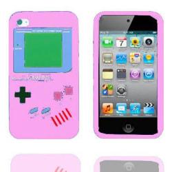 Game Boy (Ljusrosa) iPod Touch 4 Silikonskal