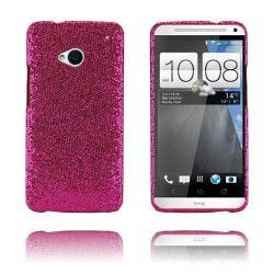 Glitter (Knallrosa) HTC One Skal