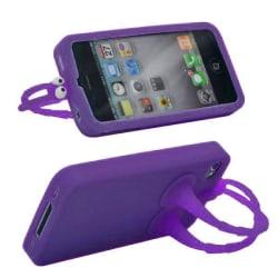 GoGo (Lila) iPhone 4S Silikonskal