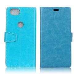 Google Pixel 2 Enfärgat fodral med plånbok - Blå