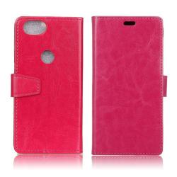 Google Pixel 2 Enfärgat fodral med plånbok - Rosa