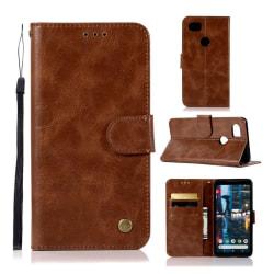 Google Pixel 2 XL och XL2 mobilfodral PU läder plånbok ståen