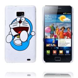 Happy Cartoon (Blå Katt) Samsung Galaxy S2 Skal