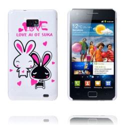 Happy Cartoon (Två Kaniner Vit) Samsung Galaxy S2 Skal
