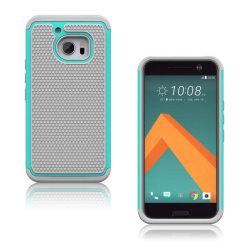 Hårderåde HTC 10 Combo Hybridskal - Grå / Cyan