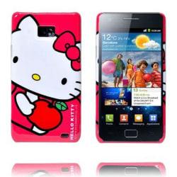 Hello Kitty Samsung Galaxy S2 Skal (Rosa - Rött Äpple)