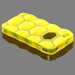 Hexagon (Gul) iPhone 4S Silikonskal