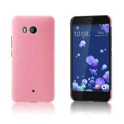 HTC U11 Enfärgat skal - Ljus rosa