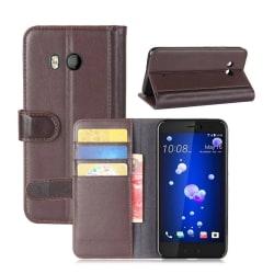 HTC U11 Fodral i äkta läder - Brun