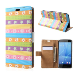 HTC U11 Life Fodral med ett läckert motiv - Blom stripes
