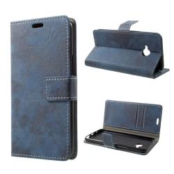 HTC U11 Life Fodral med vintage design - Blå