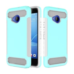 HTC U11 Life Karbonfiber designat skal - Turkos